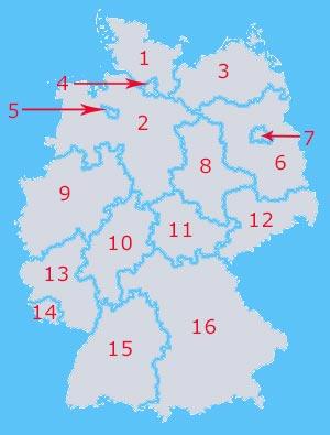 Deutschland Bundeslander Stadte Berge Inseln Seen Flusse