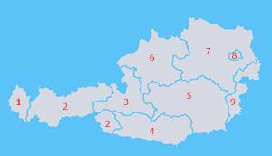 Osterreich Bundeslander Stadte Berge Seen Und Flusse Die