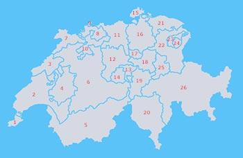 Schweiz Kantone Stadte Berge Seen Flusse Und Gletscher Die